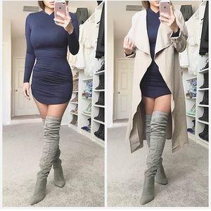 Shoes - Grey OTK boots