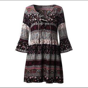 Dresses & Skirts - PLUS SZ boho Floral summer dress