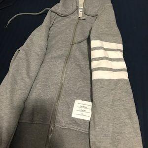 Thom Browne Other - Thom Browne lightweight hoodie grey small