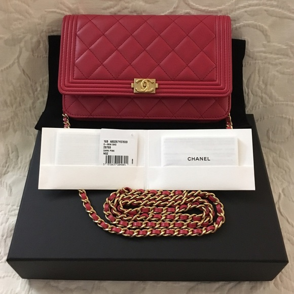 Chanel WOC Boy Wallet On Chain Gold Hardware Rare 937c60a0c