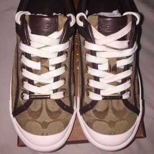 Coach Shoes - Sneakers Tennis Coach Francesca Brown Khaki