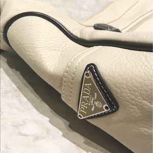 Authentic Cream Prada Crossbody Bag
