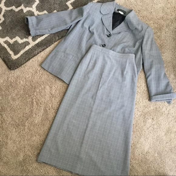 Harve Benard Other - Grey Plaid Suit