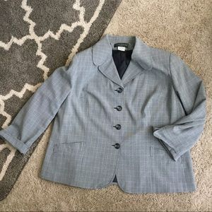 Harve Benard Other - Grey Plaid Suit