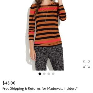 Madewell Easygoing Tee in Colorblock Stripe Sz S