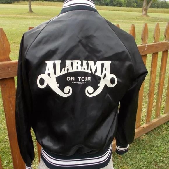 None Vintage Alabama Band 1980s Tour Jacket Size S