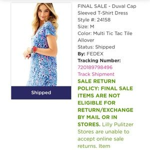 b76b8eafaa0 Lilly Pulitzer Dresses - Lilly Pulitzer Duval Cap Sleeved Tee Shirt Dress