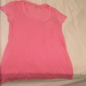 Calypso St. Barth Tops - Pink short sleeved shirt