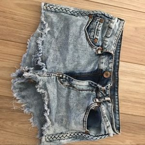Kendall & Kylie Pants - Kendall and Kylie denim shorts