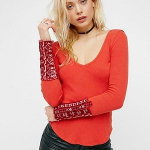 Free People Tops - SALE 2 FOR $30 NWT FREE PEOPLE CUFF THERMAL TOPS