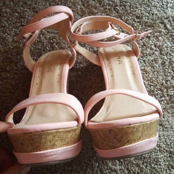 60 Off Liliana Shoes Cute Pink Summer Platform Wedge