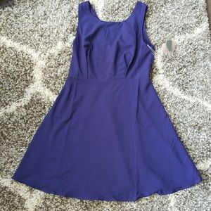 Blue-ish Purple Forever 21 Contemporary Dress-M