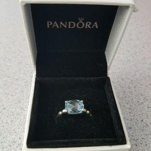 Pandora Jewelry - Brand new retired Pandora Blue Topaz Ring -size 7