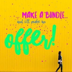 Add items to a bundle...and I'll make an offer!
