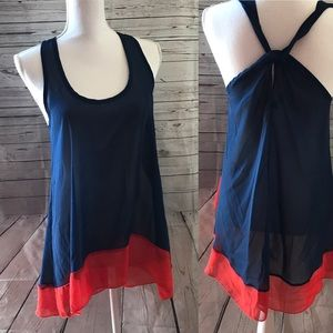 Rennes sheer color block tunic size large