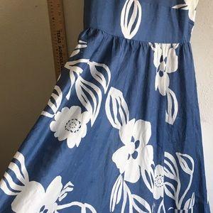 3543687956a0 Rafaella Dresses | Hawaiian Print Blue White Mumu Alt Sleeveless ...