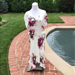 Haute Hippie Shoulder Drawstring Shoulder Dress