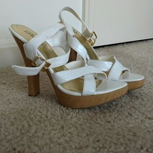 Delicious Shoes - White Summer Heels