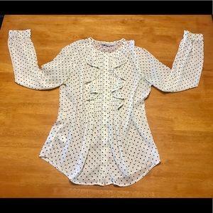 Ann Taylor Loft Long Sleeve Sheer Button Up
