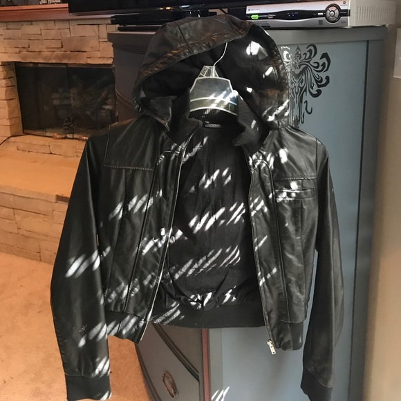 Sparkle and fade leather jacket