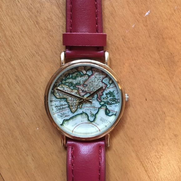 Urban Outfitters World Map Watch.Urban Outfitters Accessories Hp New World Map Watch Poshmark