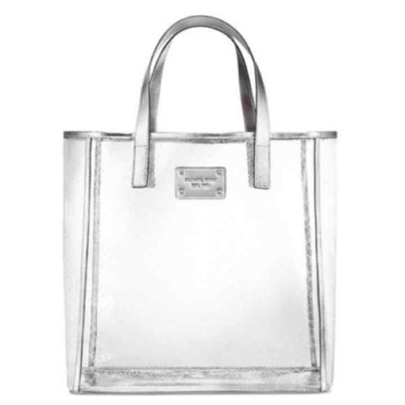 664d5076eee3 Michael Kors clear bag tote purse new