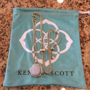 Kendra Scott Iridescent Drusy Lizzie Necklace