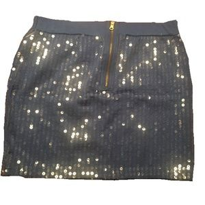 Small sequined blue miniskirt Say What??