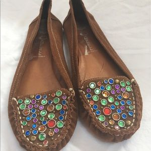 Jeffrey Campbell embellished moccasins size 8.5