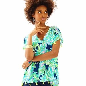 Lilly Pulitzer Tops - Lilly Pulitzer gently loved Sydney Caftan S/M