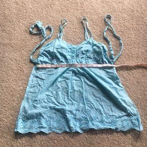 Top, Strap Blue Cotton Fresh Summer Vibes