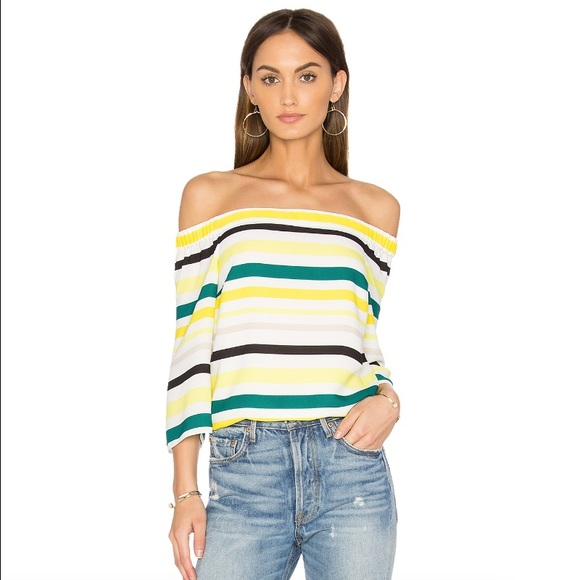STATE off the shoulder striped top 0d112e4ed431