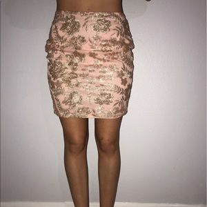 Boohoo Petite Dresses & Skirts - Glitter and lace skirt never worn out, US 4 , UK 8
