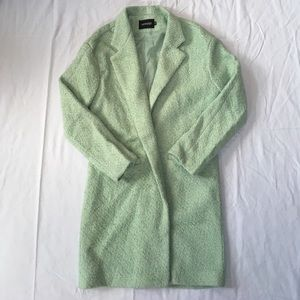 BNWOT Mint Green Textured coat szM