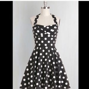 Modcloth Dresses & Skirts - Modcloth retro Traveling Cupcake polka dot dress