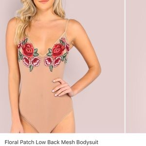 shein Other - Floral mesh body suit