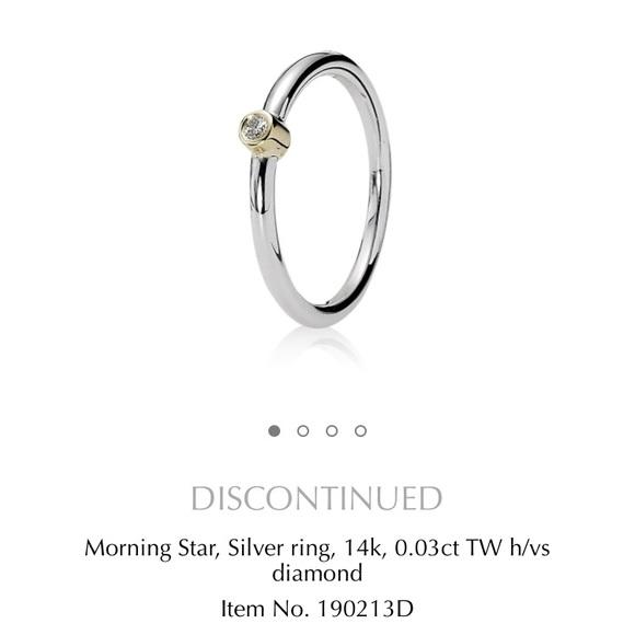 Pandora Morning Star Diamond Ring Size