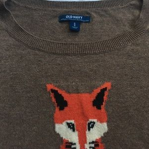 Old Navy Sweaters - Old Navy softest knit Fox sweater size M