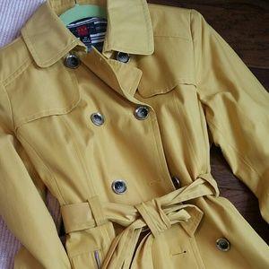 Gallery Jackets & Blazers - Yellow trench rain coat