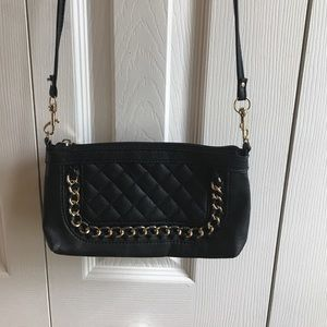 Handbags - Satchel black and gold