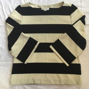 F21 Mod black/white striped top