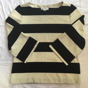 Tops - F21 Mod black/white striped top