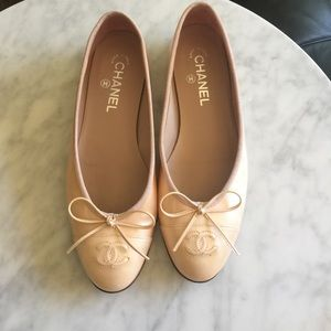 Nude/Light Pink Chanel Flats 🌼see desc for size🌼