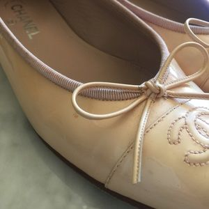 4632af5bb6a2 CHANEL Shoes - Nude Light Pink Chanel Flats 🌼see desc for size🌼