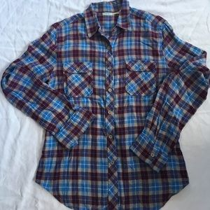 Urban Outfitters plaid flannel button-down size M