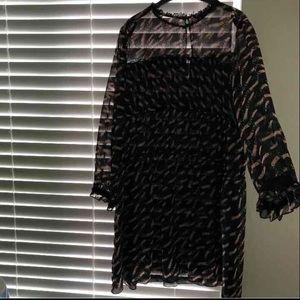 Zara chiffon dress (lined) XL