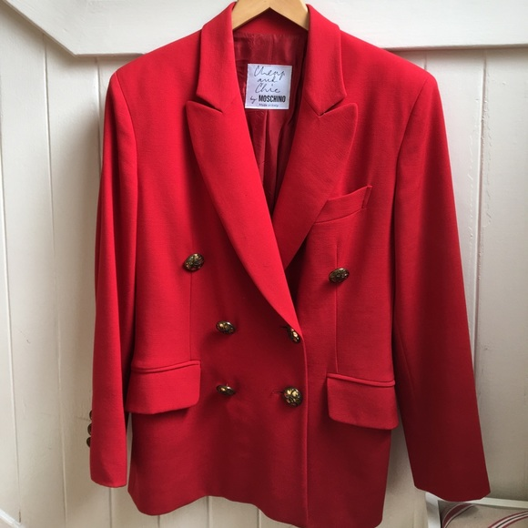 8285d8e16f Moschino Cheap and Chic Red Vintage Skirt Suit. M_595149ce13302a83ac00d954