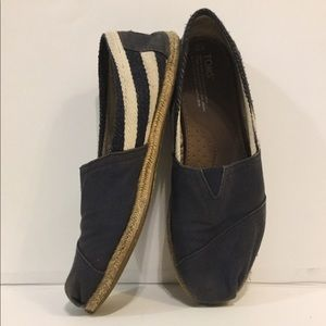 Toms Shoes - Blue striped Toms