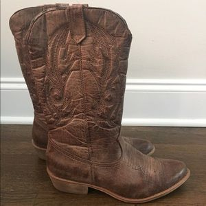 Matisse Shoes - Brown Gaucho Cowboy Boots