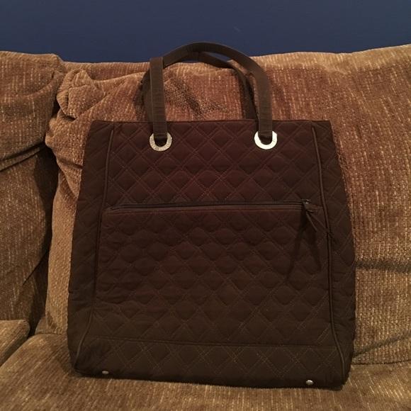 86% off Vera Bradley Handbags - Vera Bradley quilted chocolate ... : quilted bags like vera bradley - Adamdwight.com